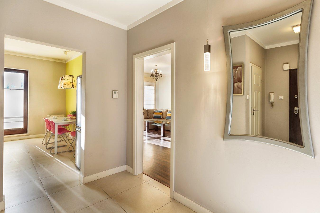 Hallway at Zeligowskiego Apartments
