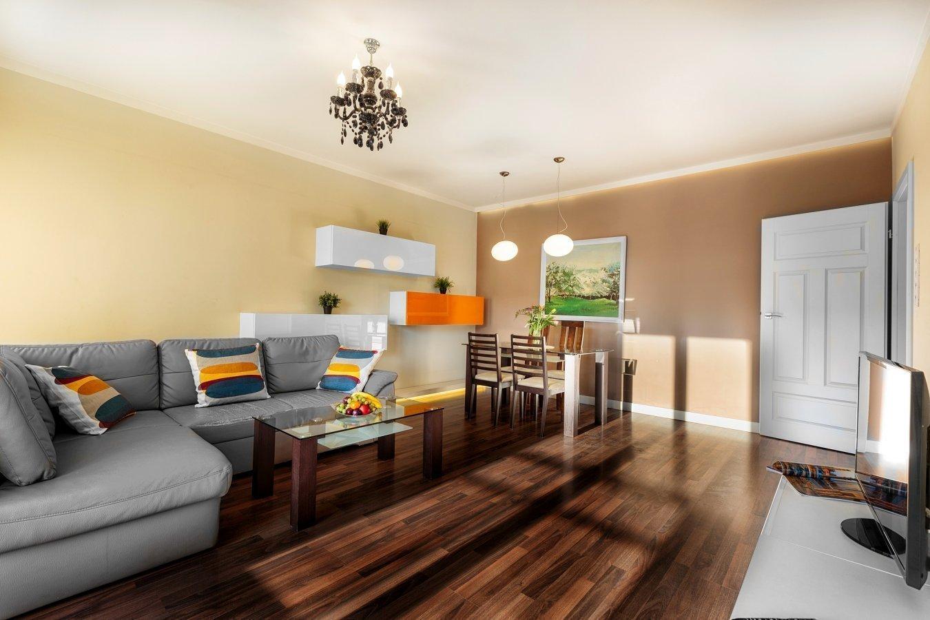 Living room at Zeligowskiego Apartments