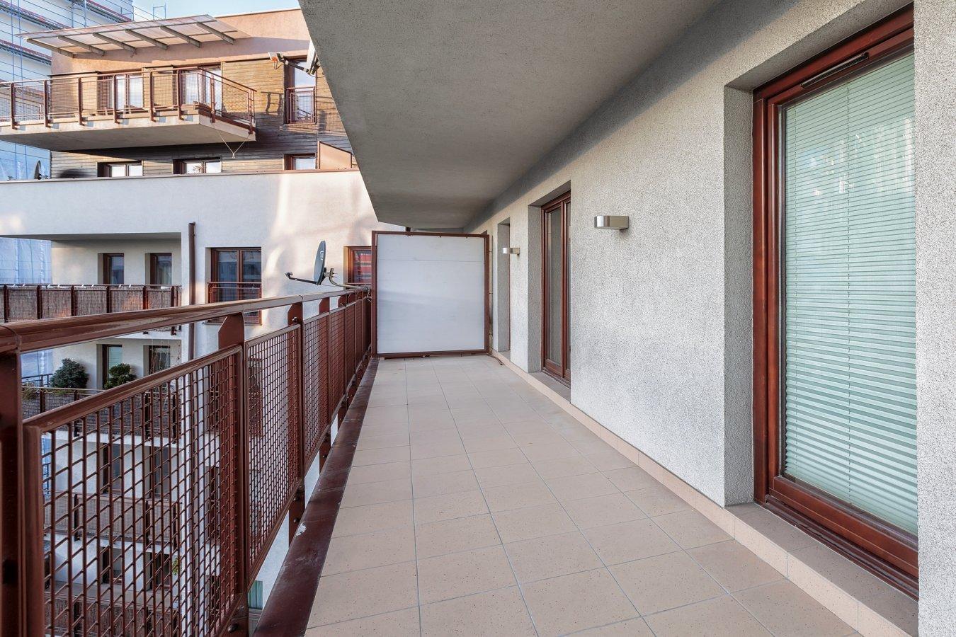 Balcony at Zeligowskiego Apartments
