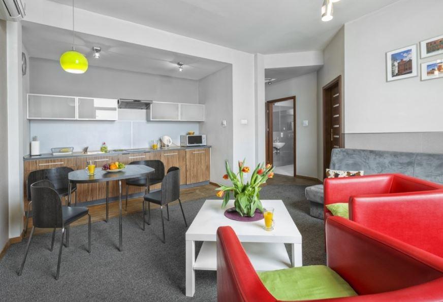 Open-plan design of Zeligowskiego Apartments, Centre, Lodz