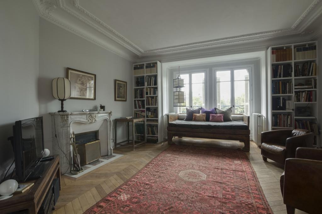 Living room at Pyrénées Apartment, 19th Arr, Paris