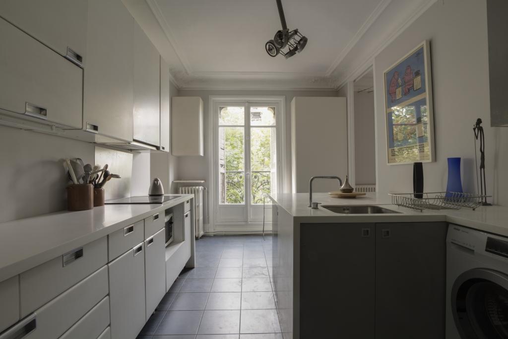 Kitchen at Pyrénées Apartment, 19th Arr, Paris