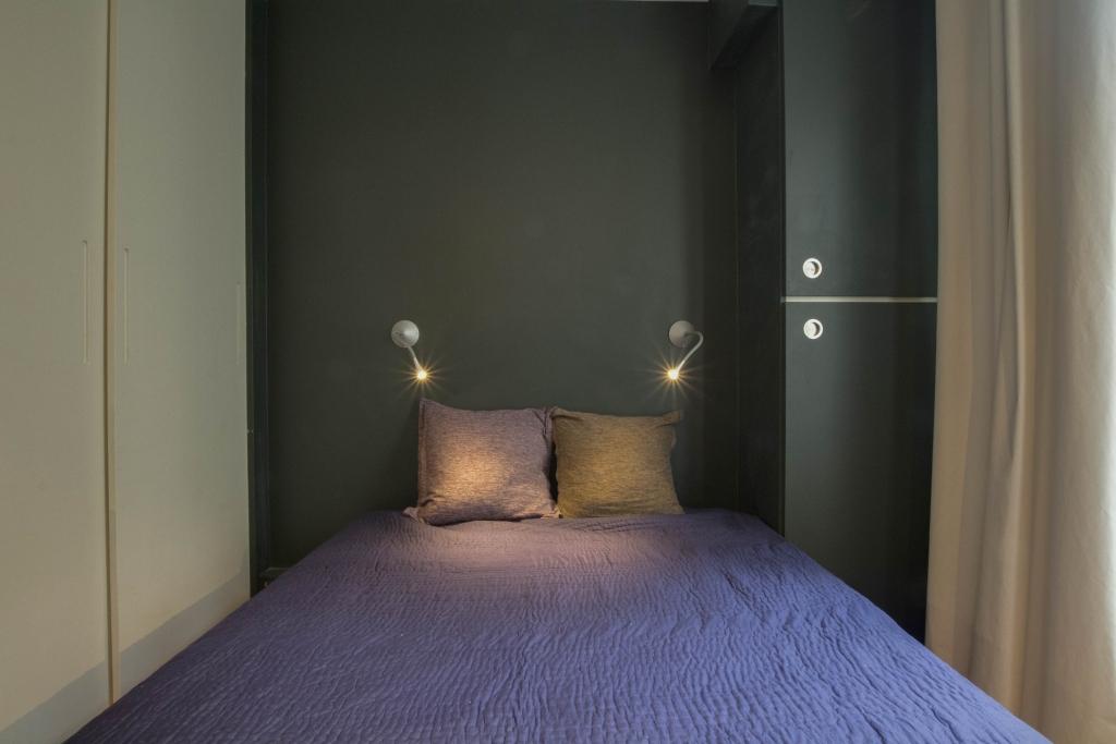 Sleep space at Pyrénées Apartment, 19th Arr, Paris