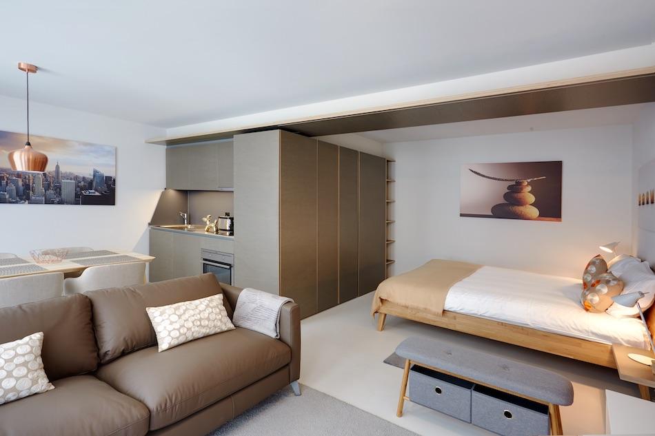 Living room at Morache Apartments