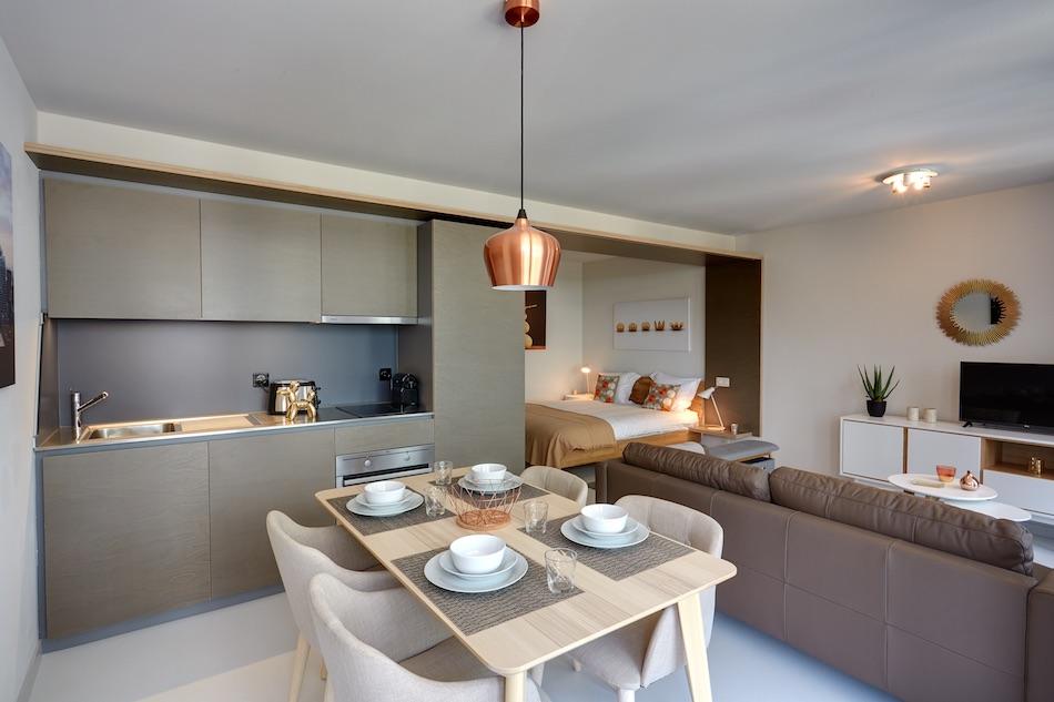 Kitchen at Morache Apartments