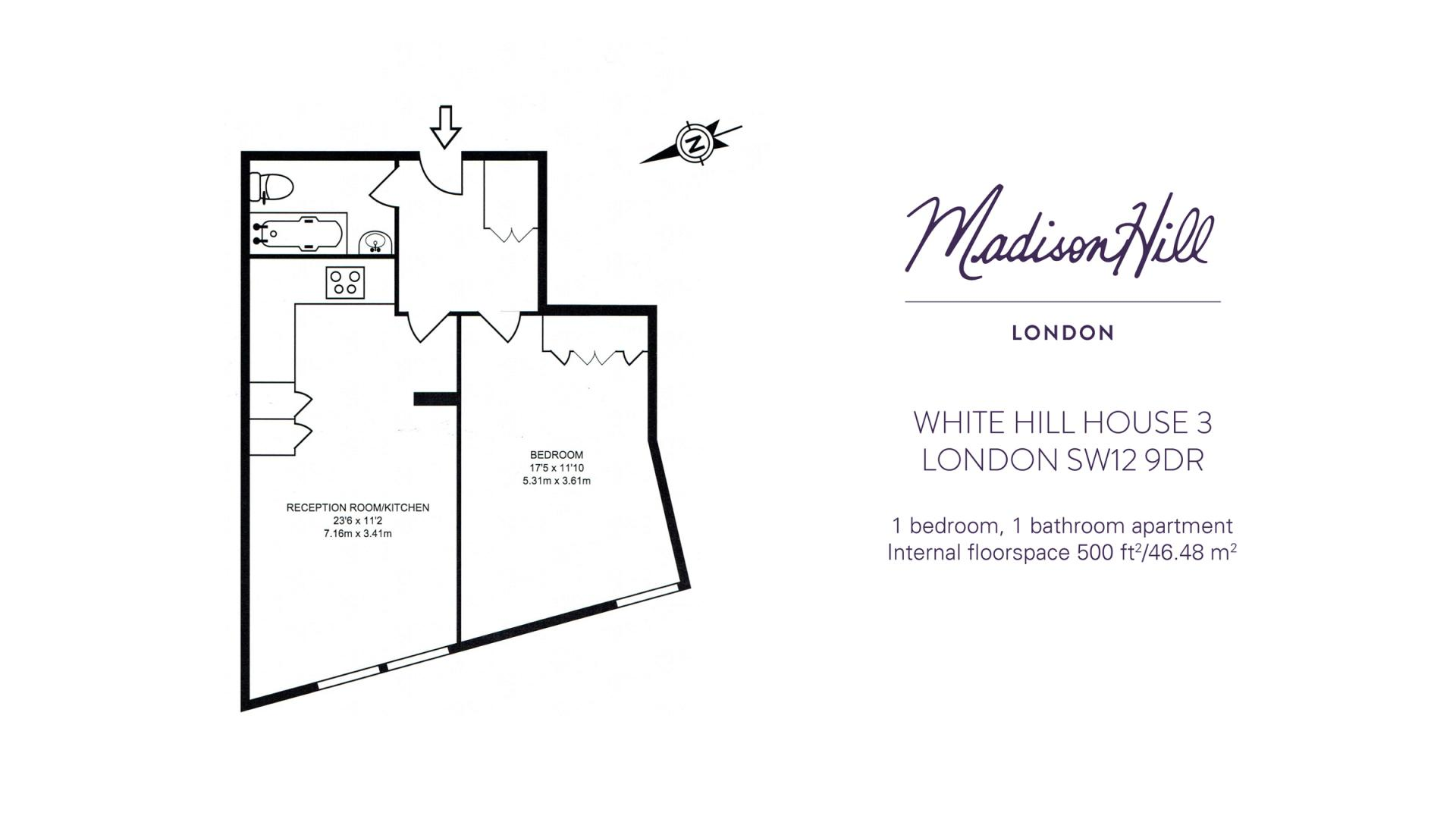 Floor plan at White Hill 3 Apartment