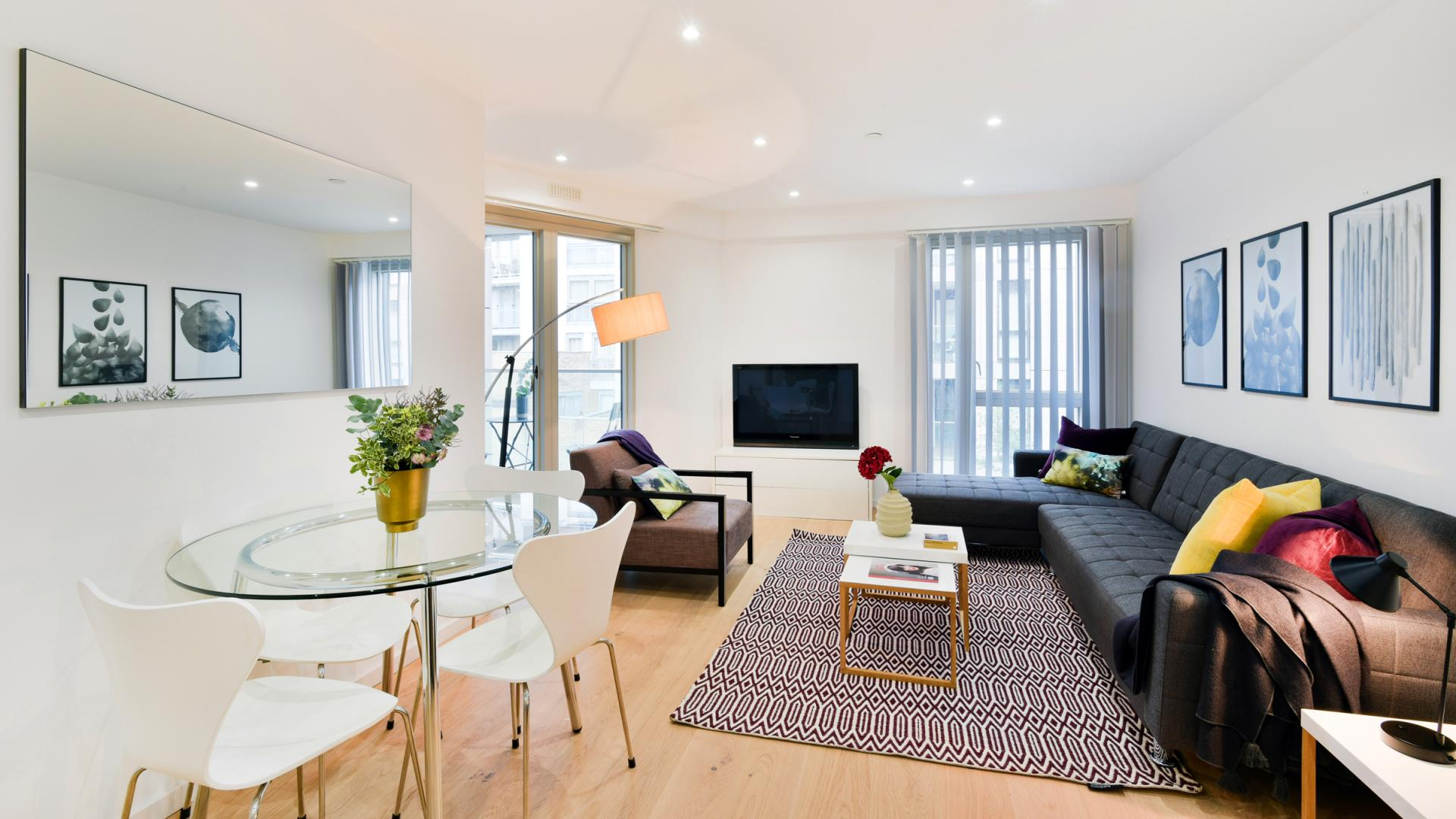 Living room at Clapham South 1 Apartment
