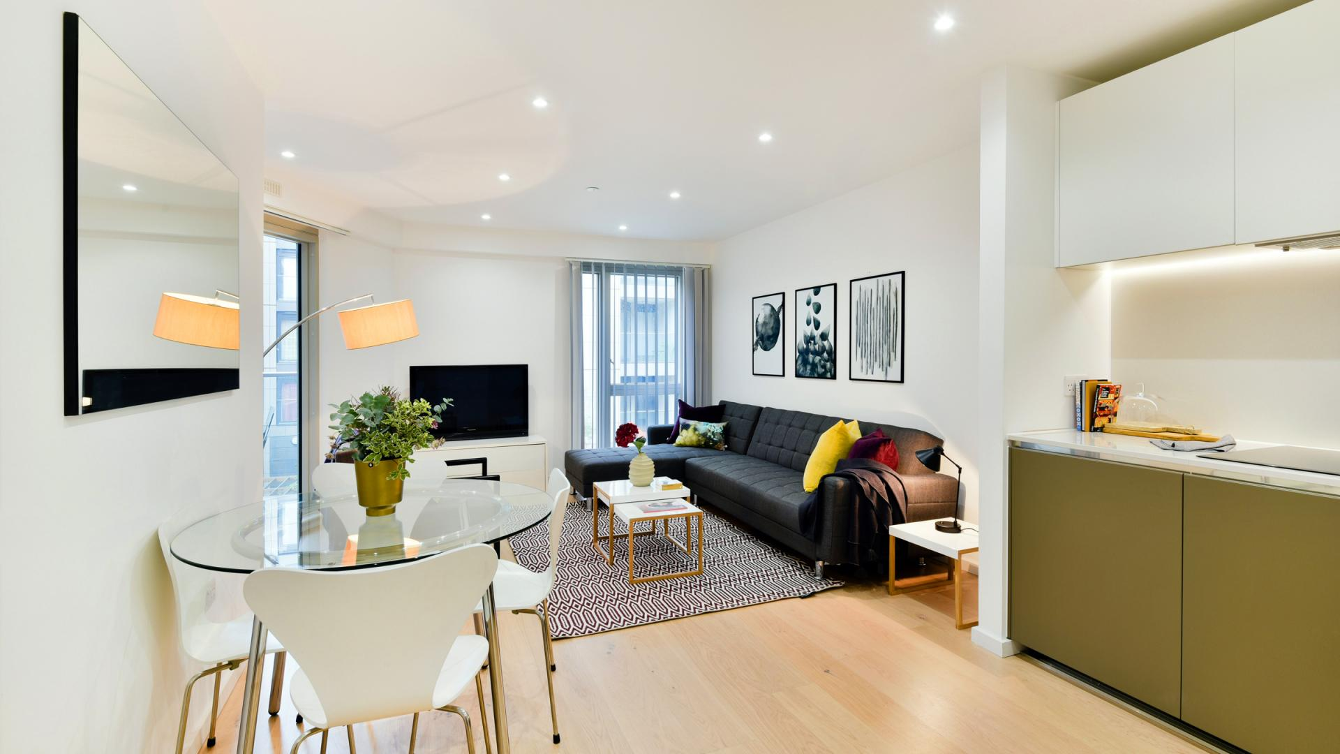 Dining area at Clapham South 1 Apartment