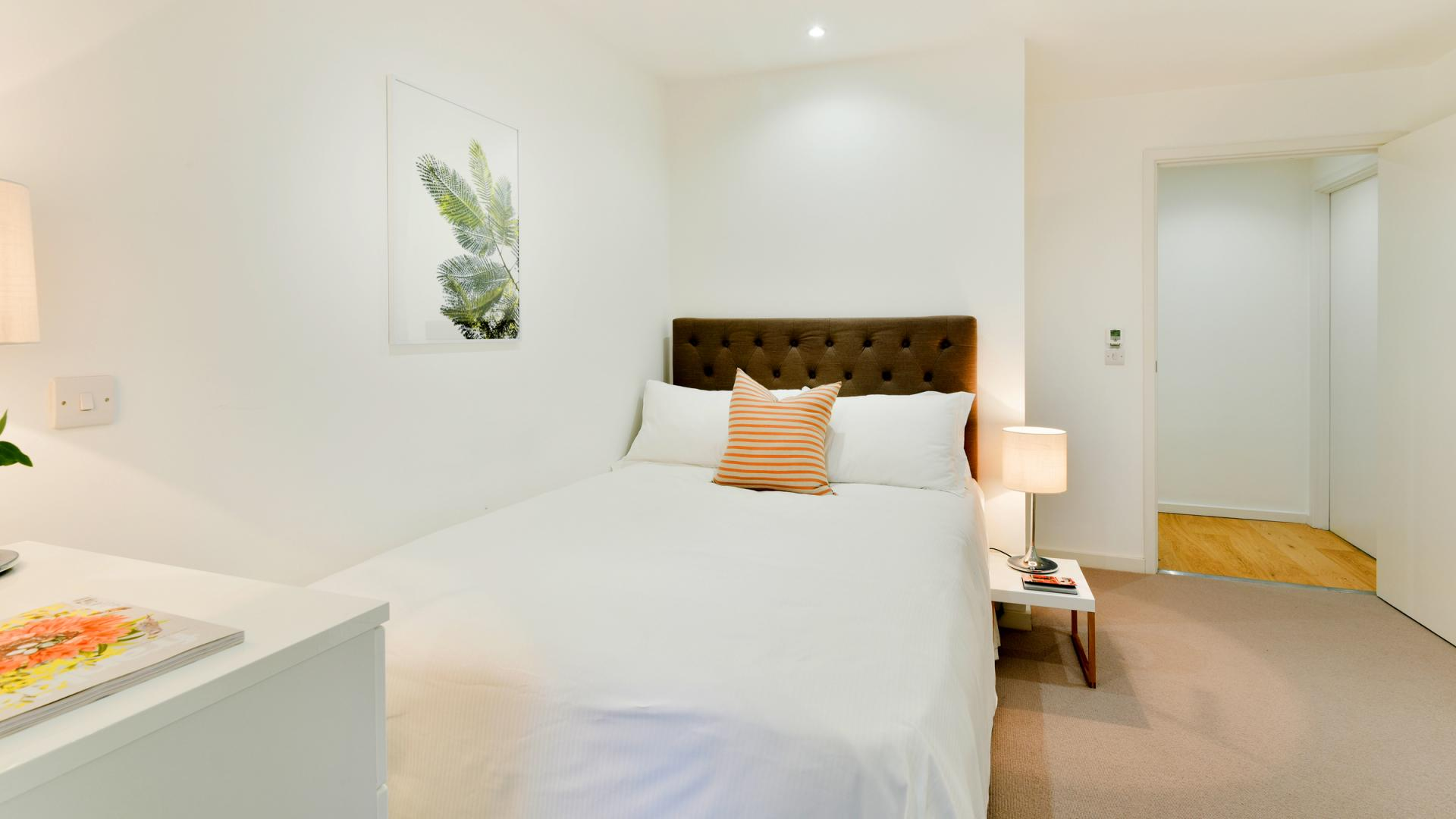 Double bed at Clapham South 1 Apartment