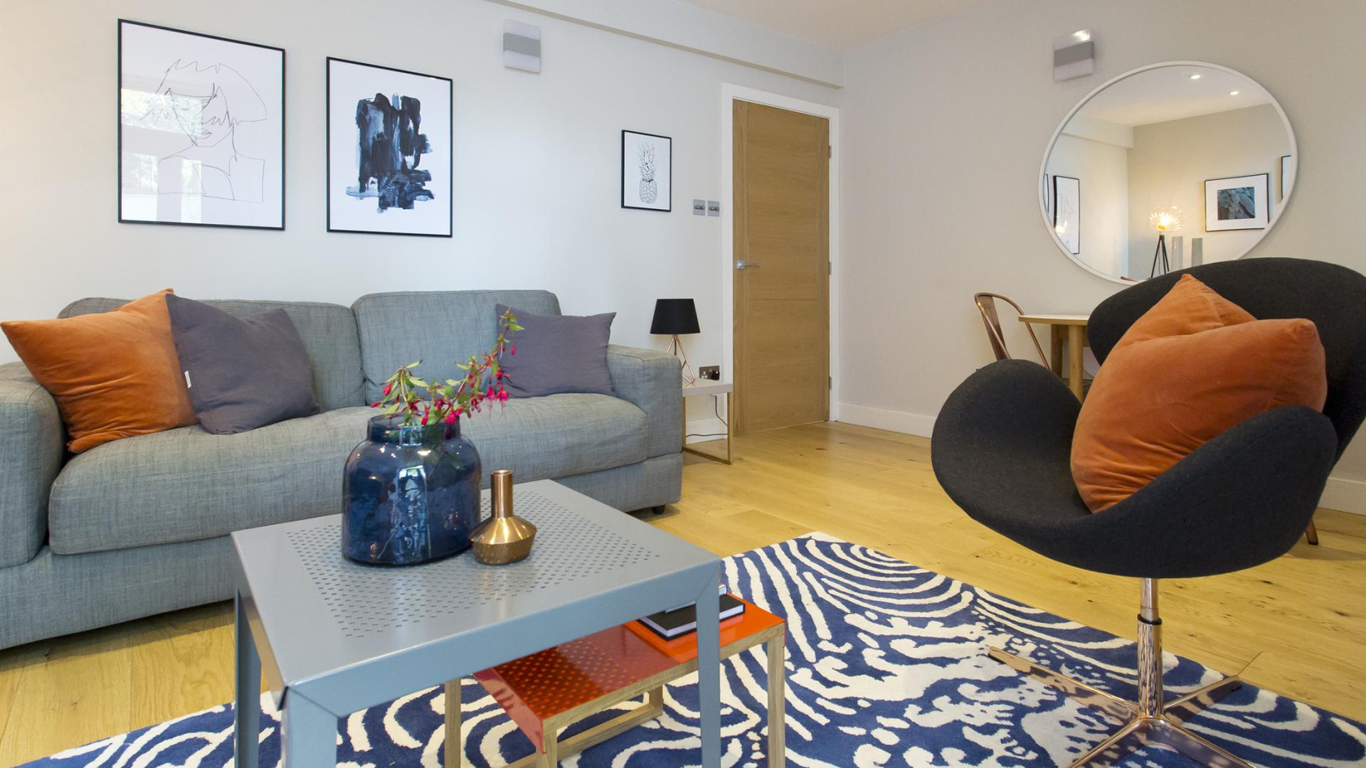 Stylish living area at Byrne Garden 2 Apartment