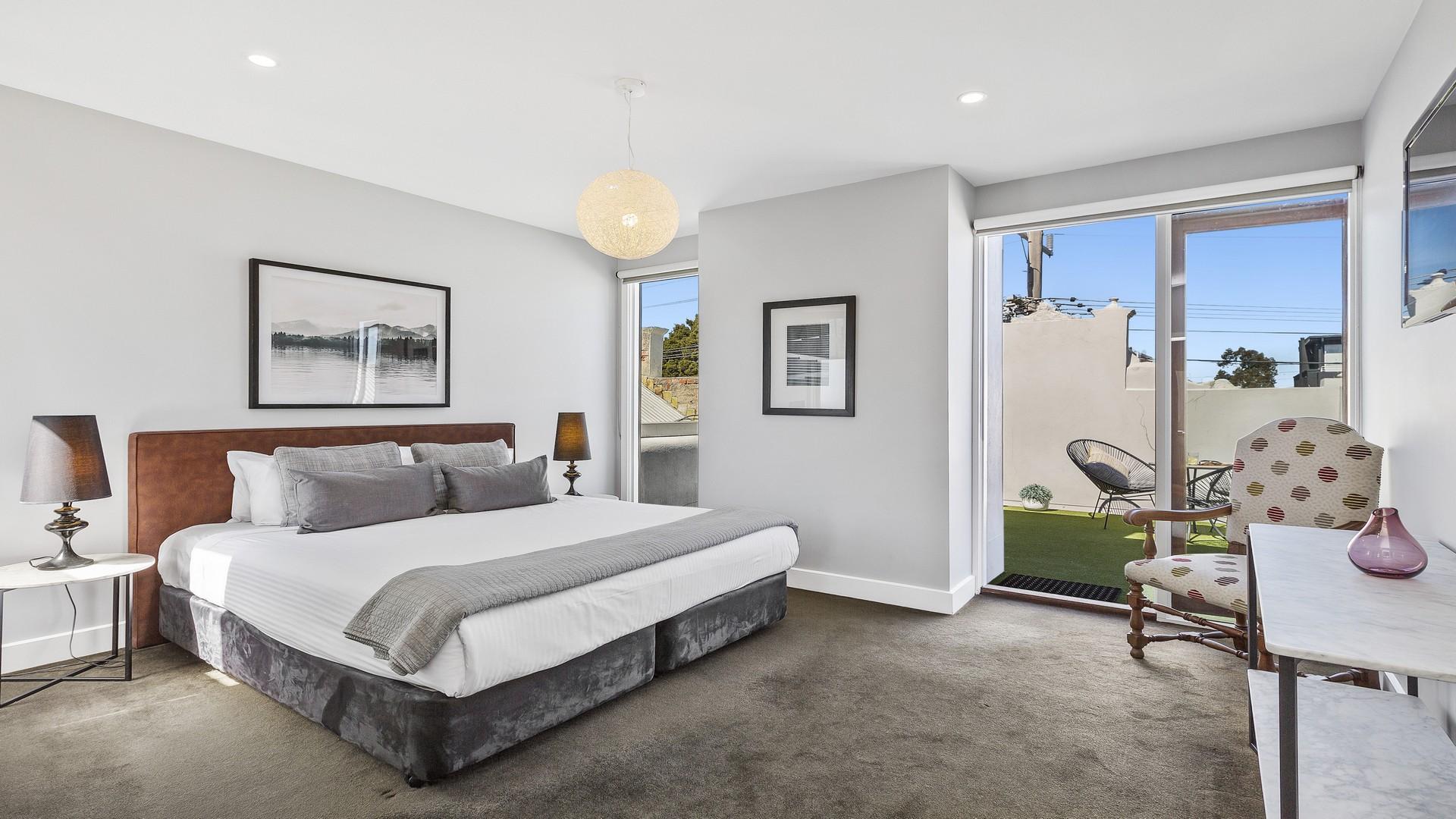 Modern bedroom at Victorian Vogue
