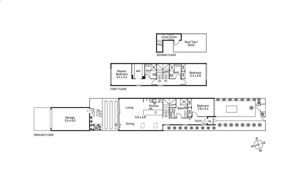 Floorplan at Victoria Road Townhouse