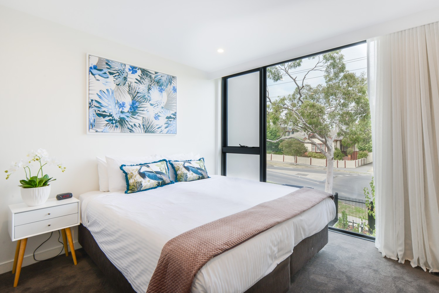 Bright bedroom at Victoria Road Townhouse