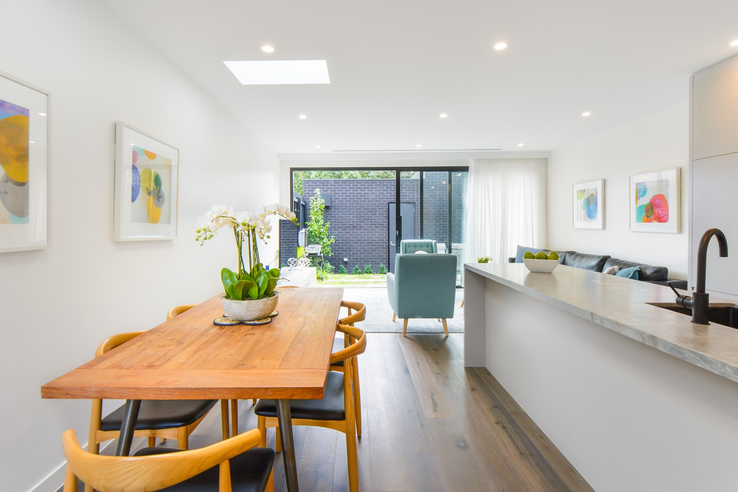 Modern dining area at Victoria Road Townhouse