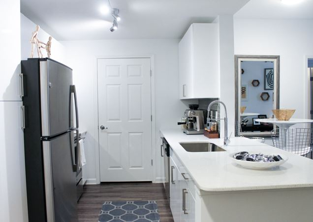 Kitchen at Exchange at Middle Town Apartment