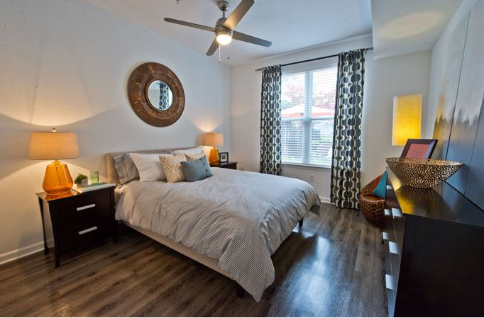 Bedroom at Exchange at Middle Town Apartment