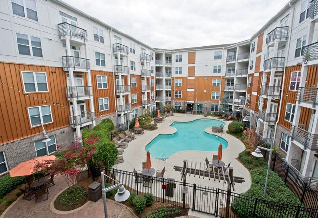Pool at Exchange at Middle Town Apartment