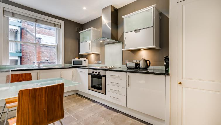 Kitchen at 32 James Street Apartments