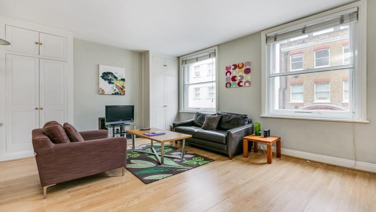 Living area at 32 James Street Apartments