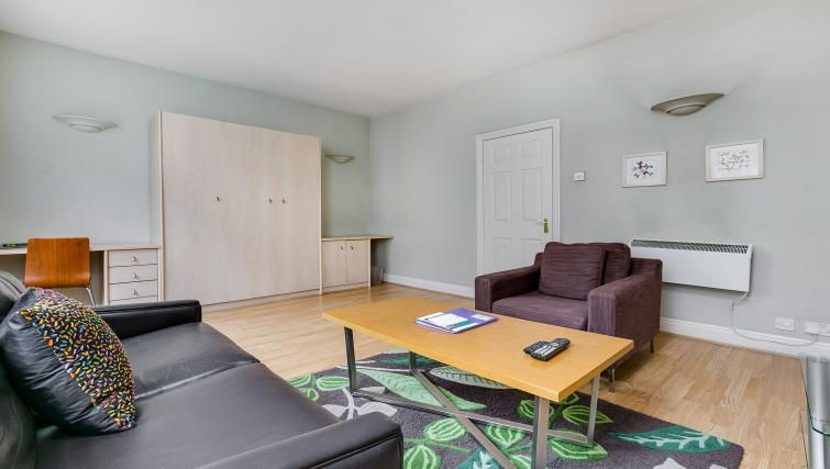 Living space at 32 James Street Apartments