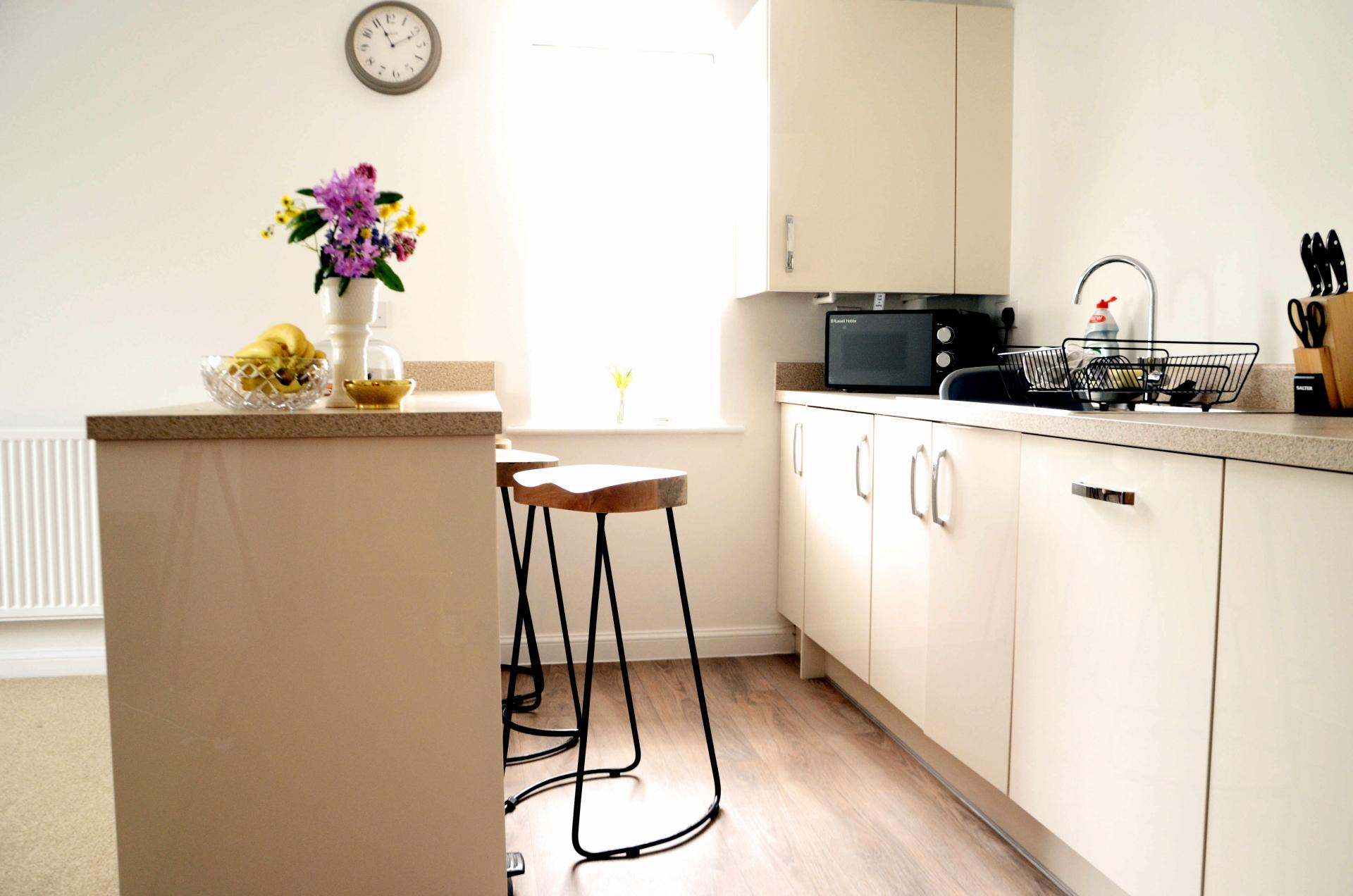 Kitchen facilities at Rosso Close Apartments