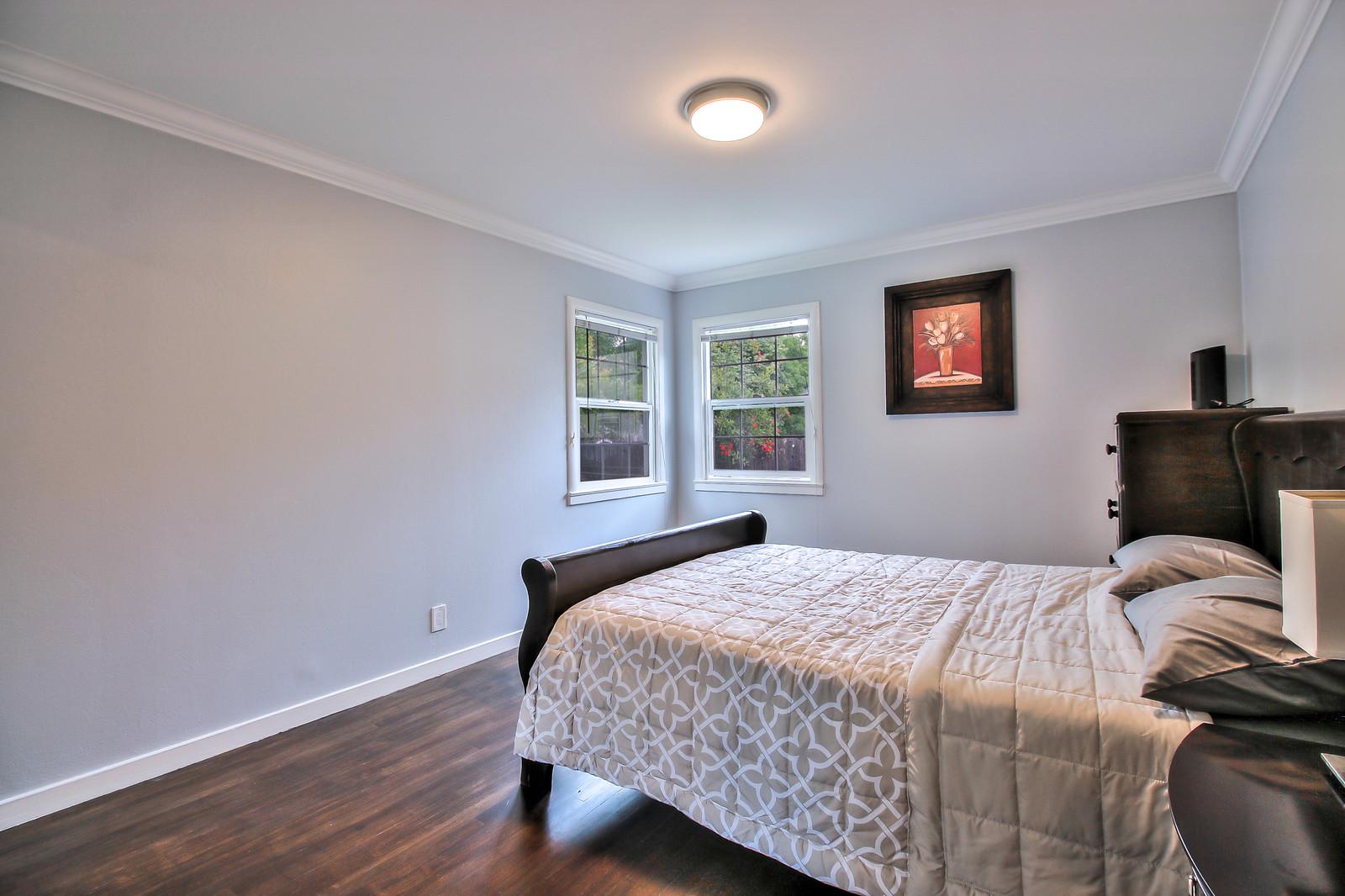 Bedroom at San Jose Duplex Apartment