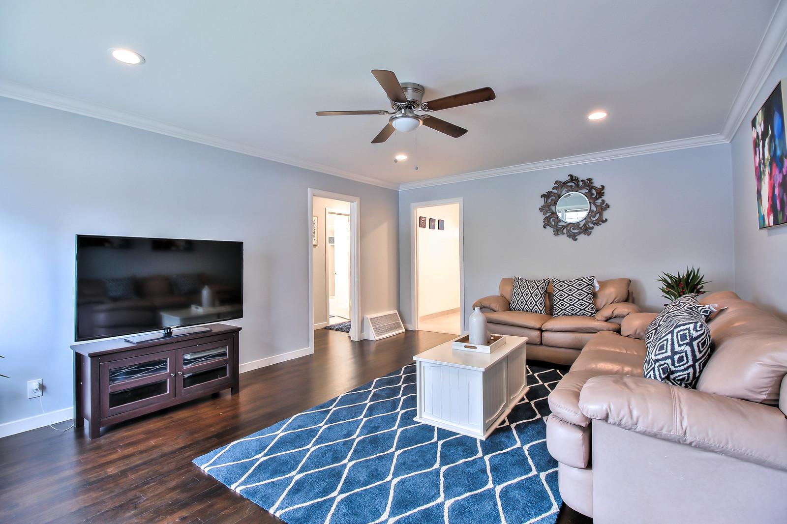 Living room at San Jose Duplex Apartment