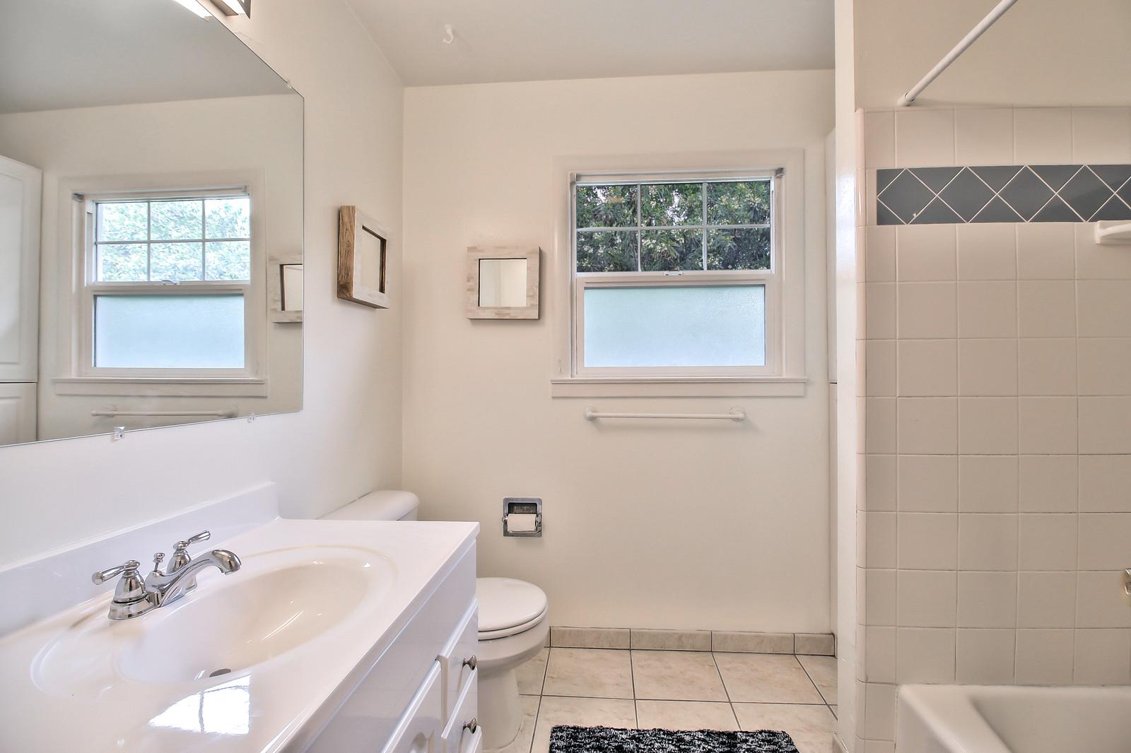 Bathroom at San Jose Duplex Apartment