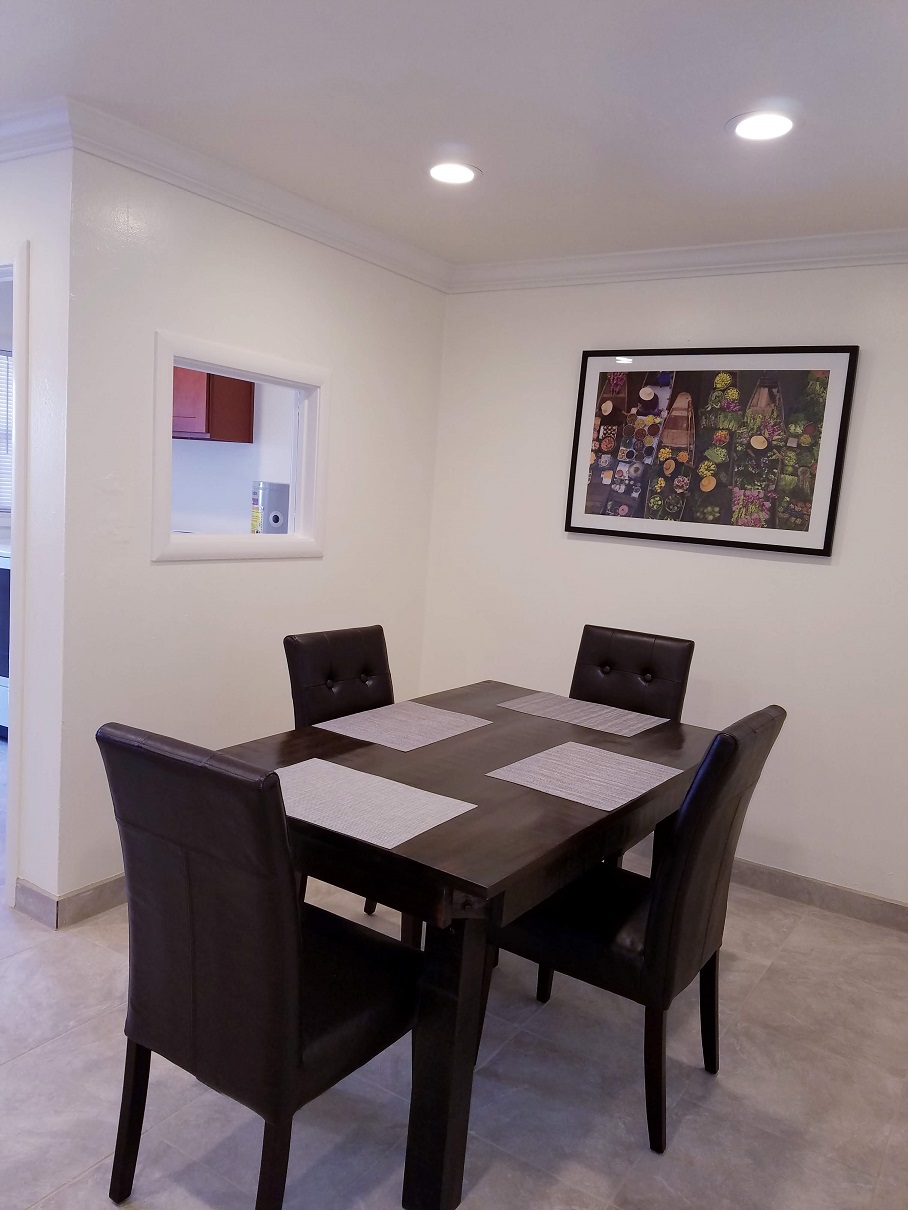 Dining room at San Jose Duplex Apartment