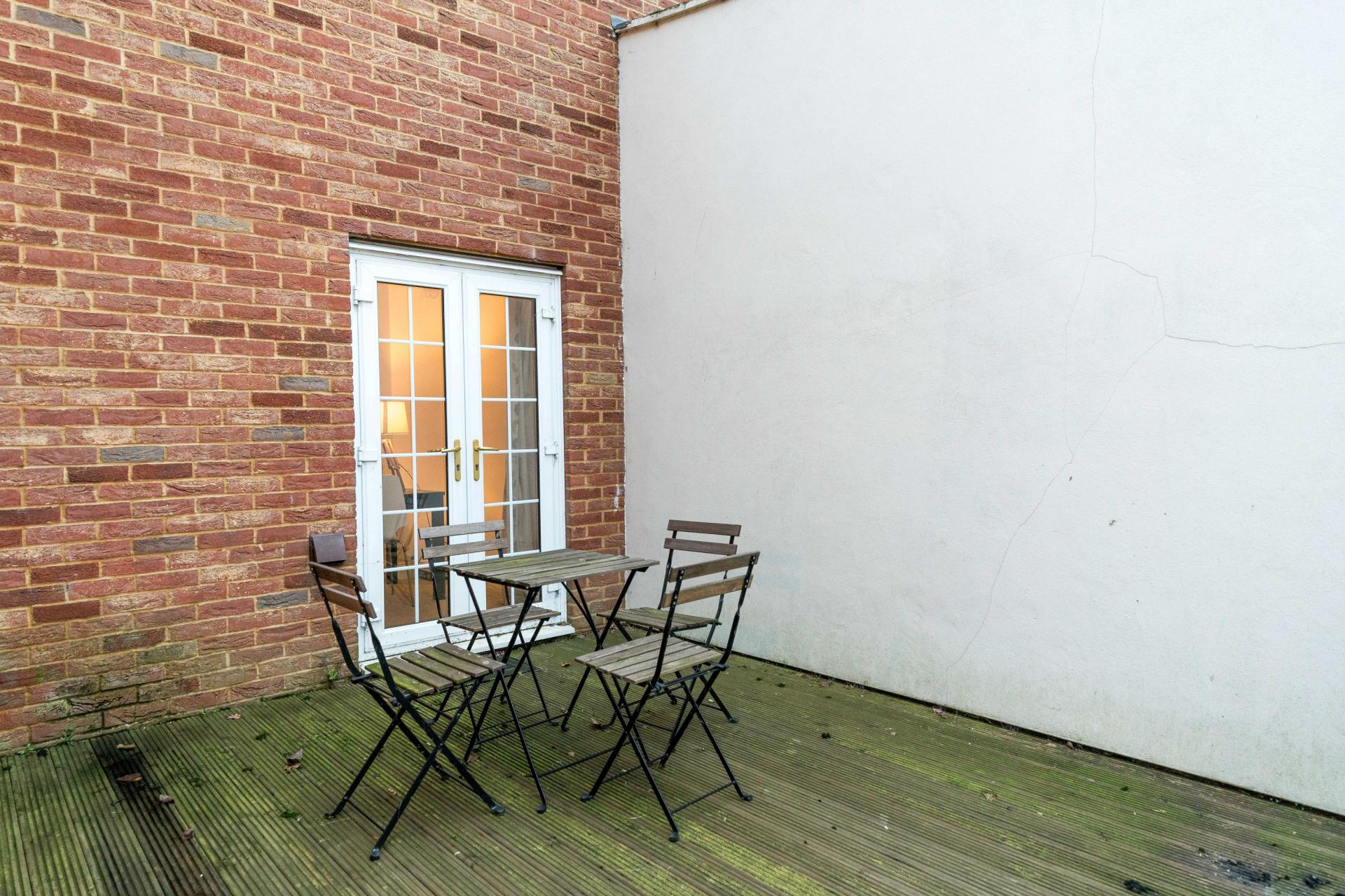 Patio at Stowfield House