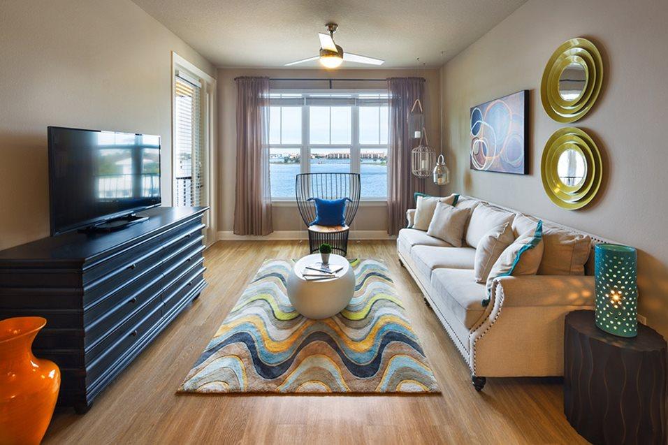 Living Room at Lake Vue Apartments