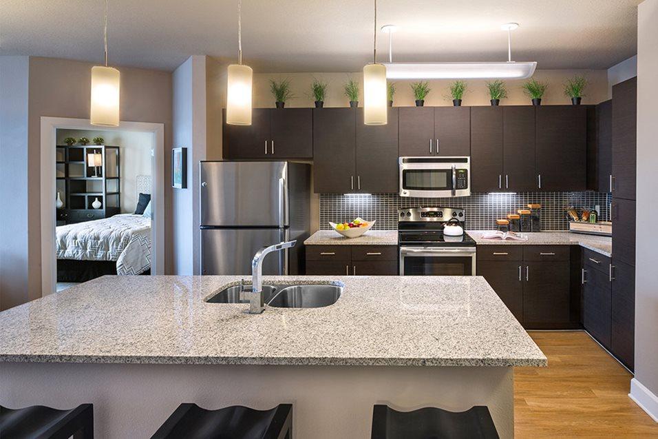Kitchen at Lake Vue Apartments