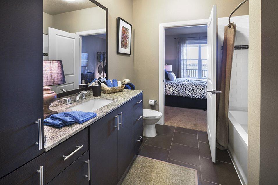 Bathroom at Lake Vue Apartments