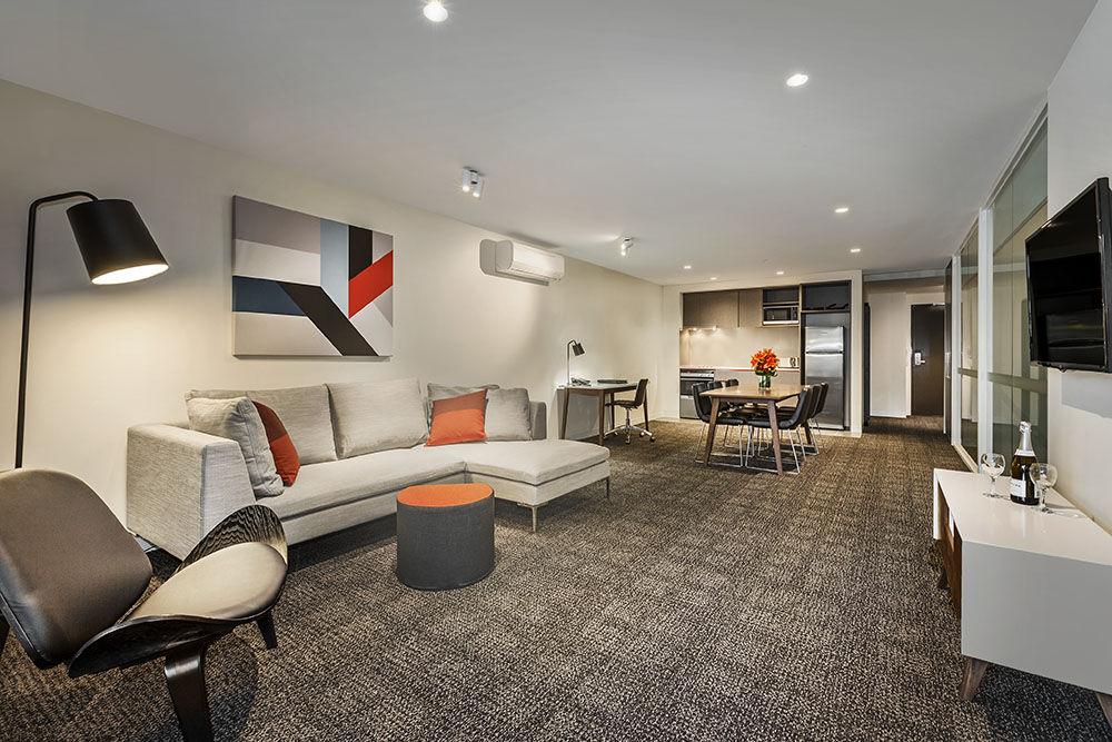 Living area at Quest Abbotsford
