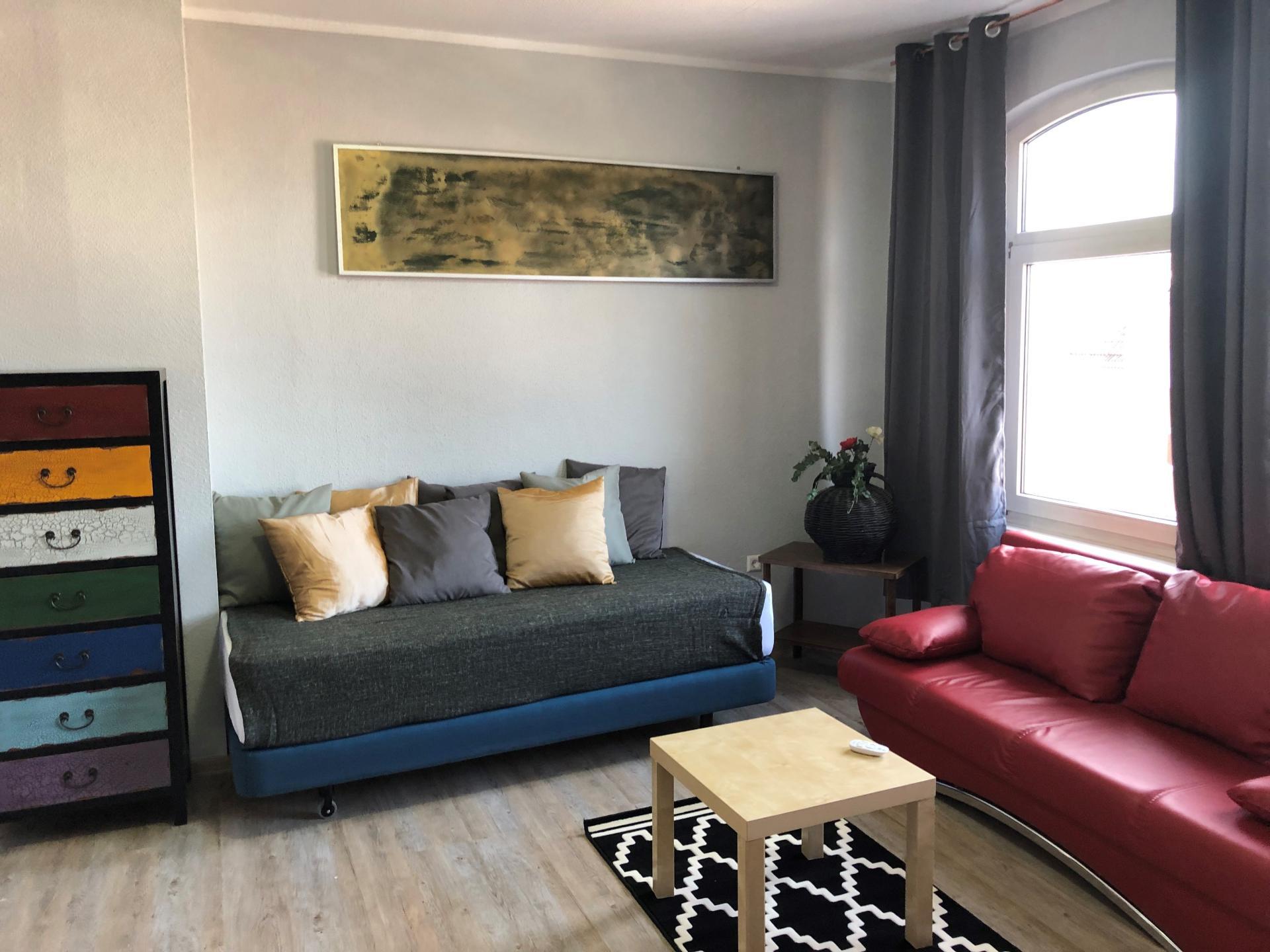 Living room at Schulenburger St Apartment