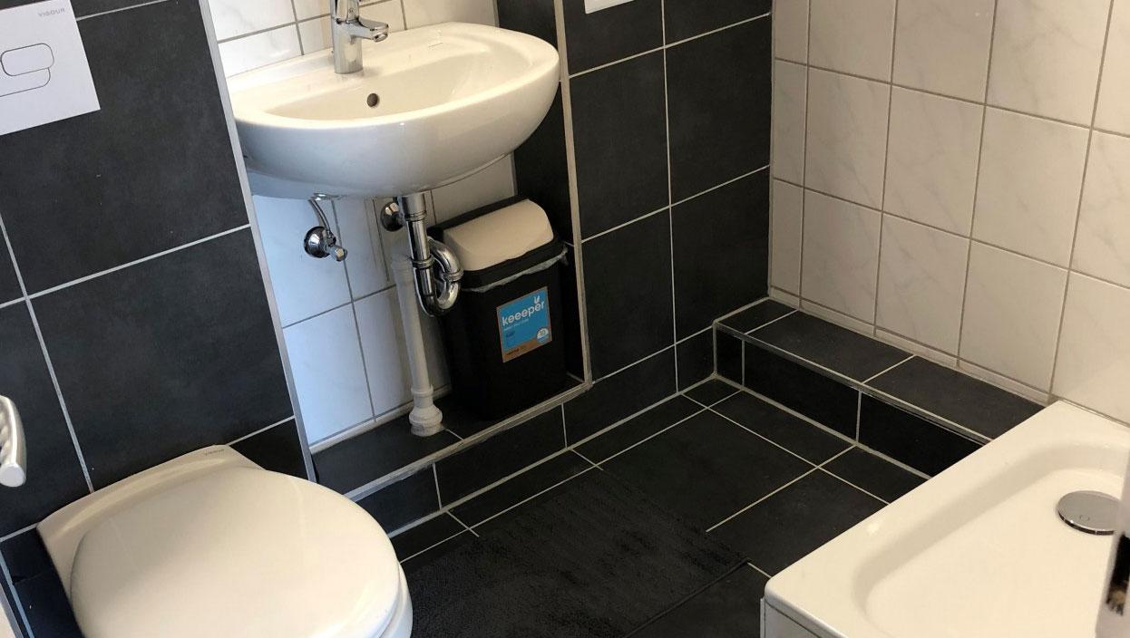 Bathroom at Schulenburger St Apartment