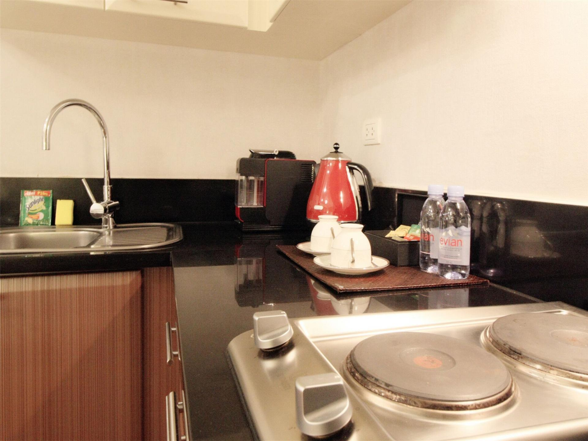 Kitchen at Alessandro Tower Apartments