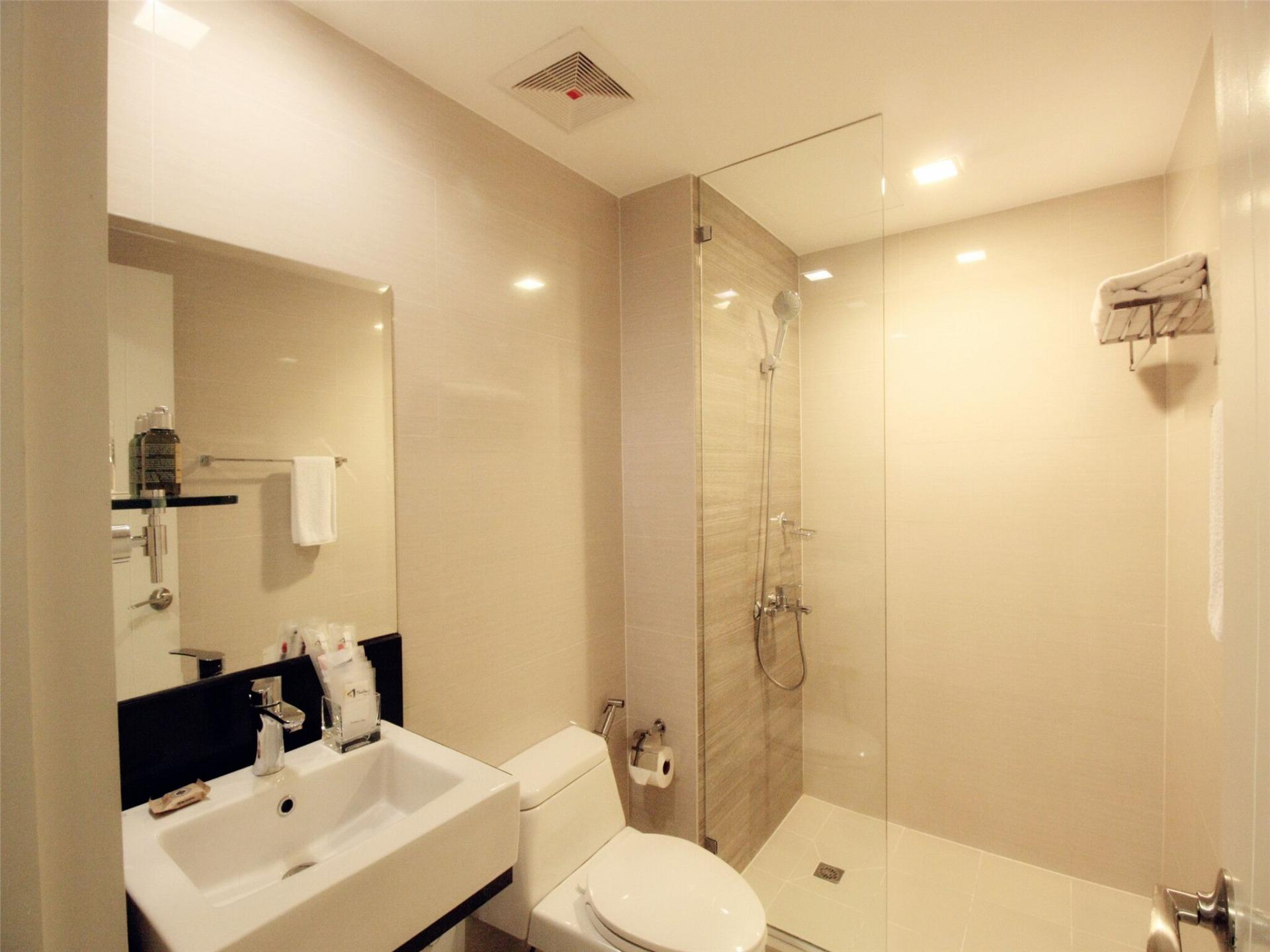 Bathroom at Alessandro Tower Apartments