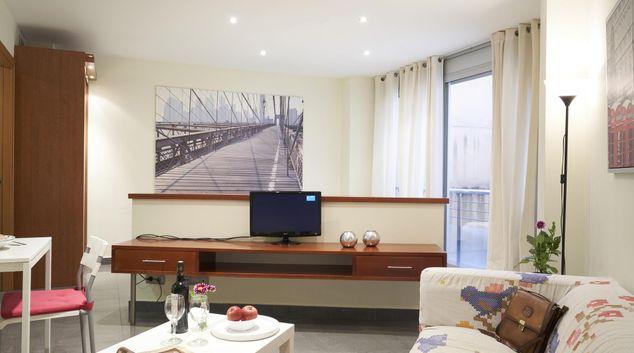 Living room at Universidad Apartments