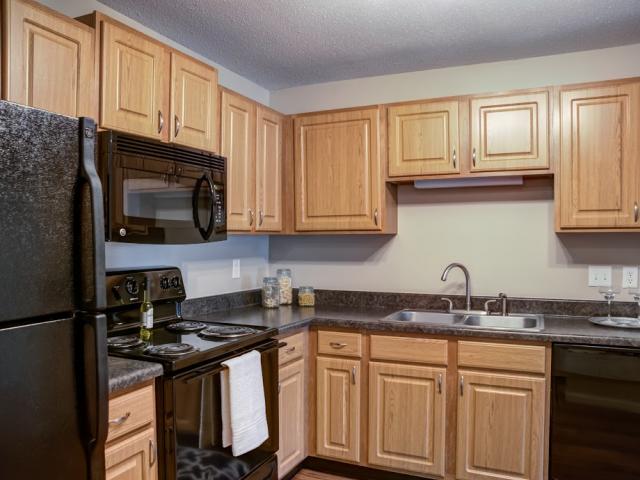 Kitchen at City Scape Apartments