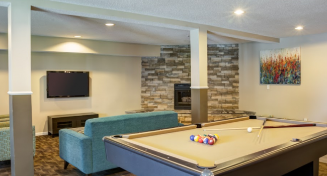 Pool table at City Scape Apartments