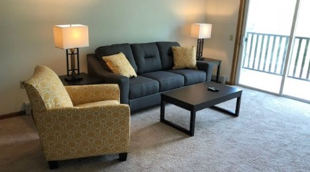 Living room at City Scape Apartments