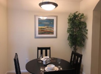 Dining table at City Scape Apartments