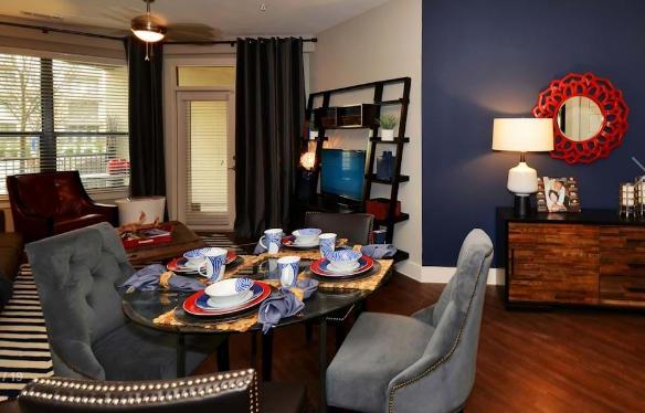 Living Room at Amli at the Ballpark Apartment