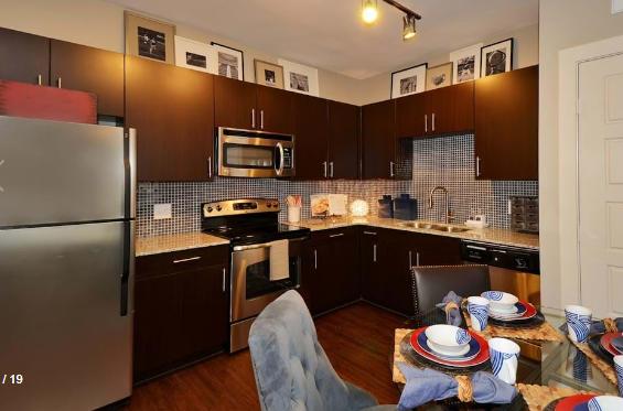 Kitchen at Amli at the Ballpark Apartment
