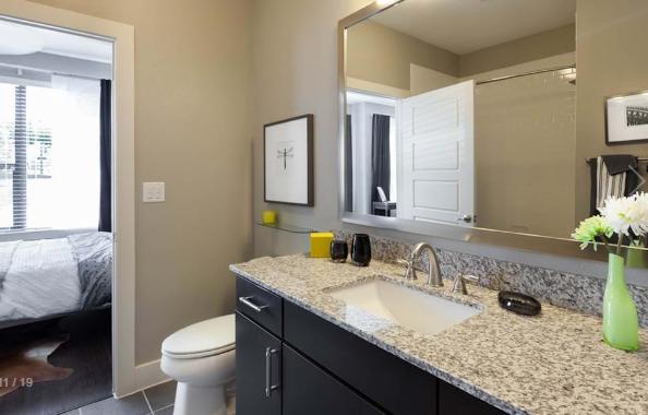Bathroom at Amli at the Ballpark Apartment