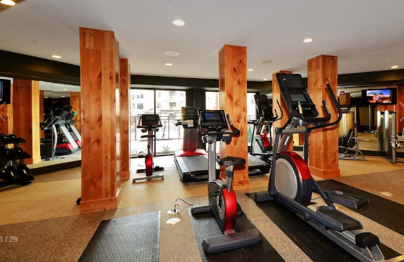 Gym at Amli at the Ballpark Apartment