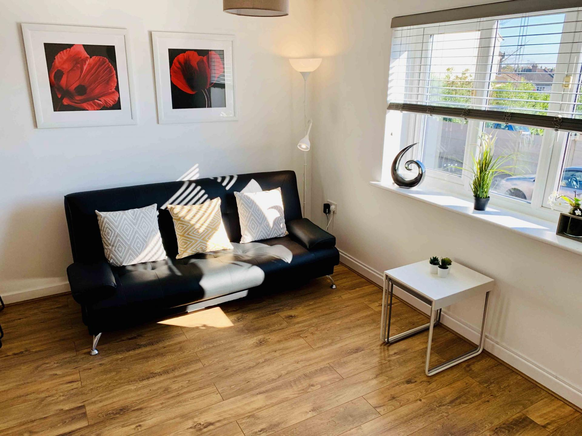 Sofa space at Barrack Road Apartment