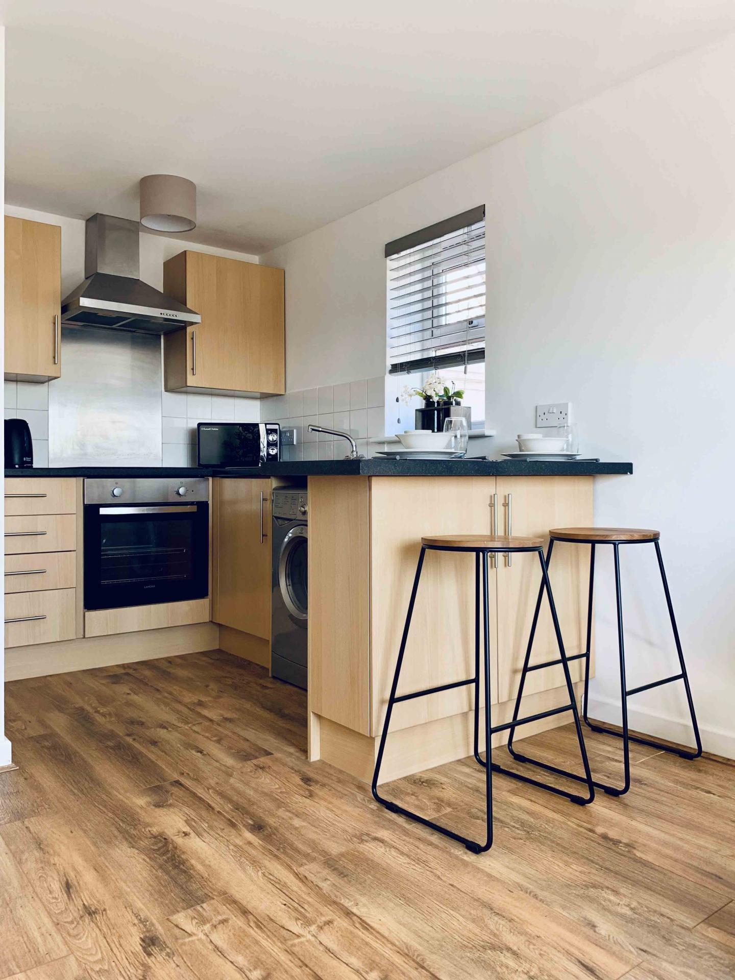 Kitchen at Barrack Road Apartment