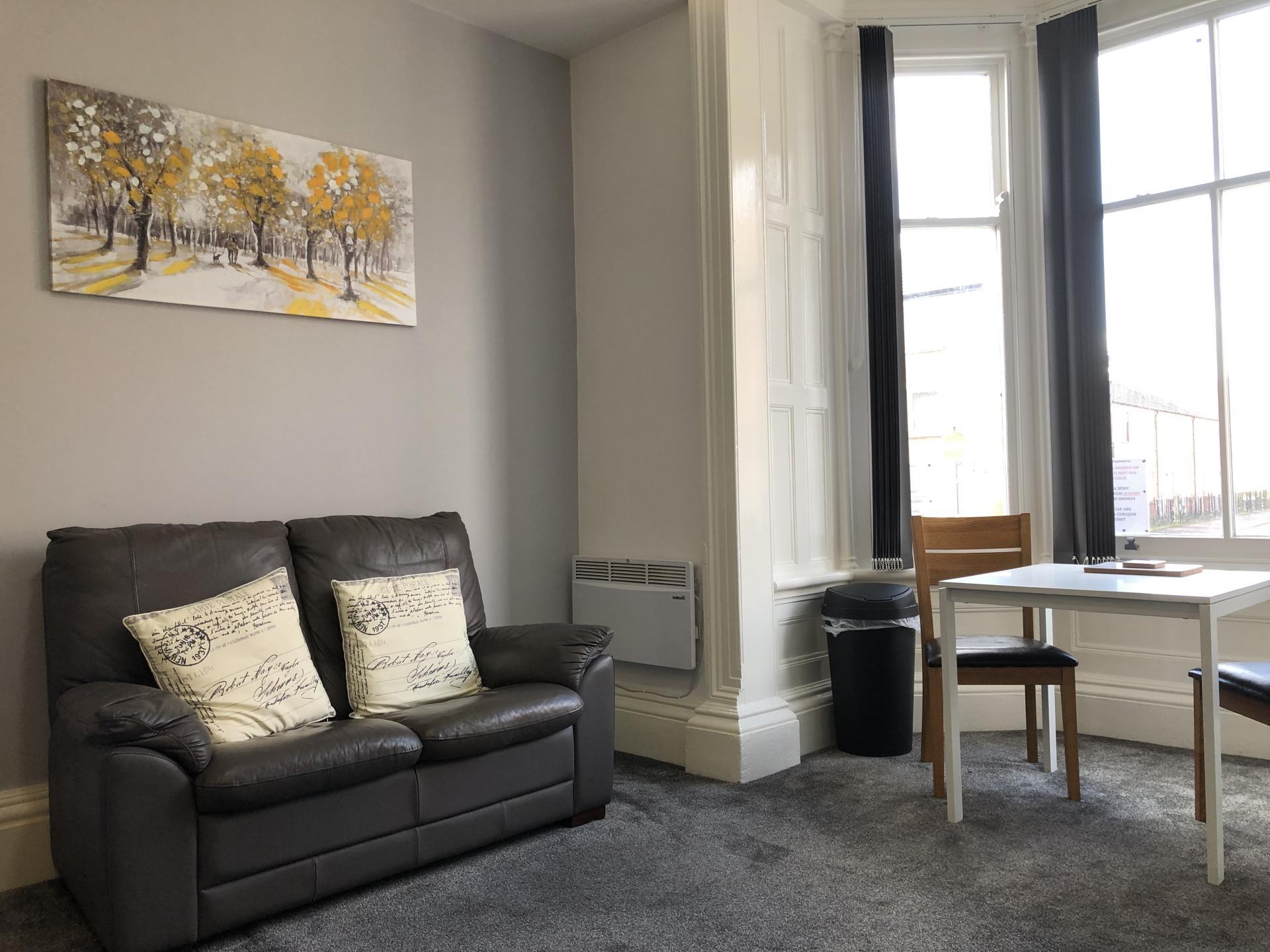 Living area at Fishergate Apartment